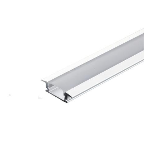 PERFIL DE EMBUTIR BRANCO ULTRA SLIM RENTE COM DIFUSOR 23x07x2000 mm NQ2307E-2M NQ PERFIL E LED