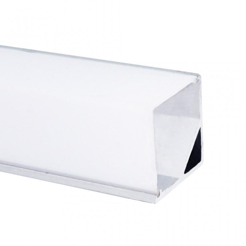 Perfil de Sobrepor Canto Quadrado para Fita LED 28x16x2000mm EKPF31 Eklart