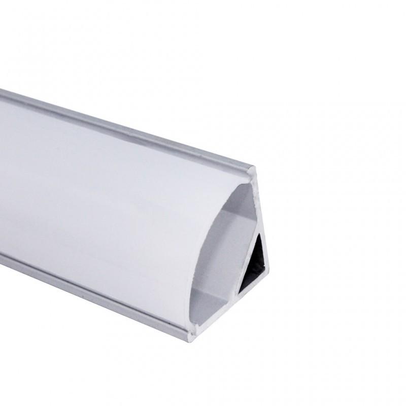 Perfil de Sobrepor Canto Redondo Para Fita LED 25x16x2000mm EKPF32 Eklart
