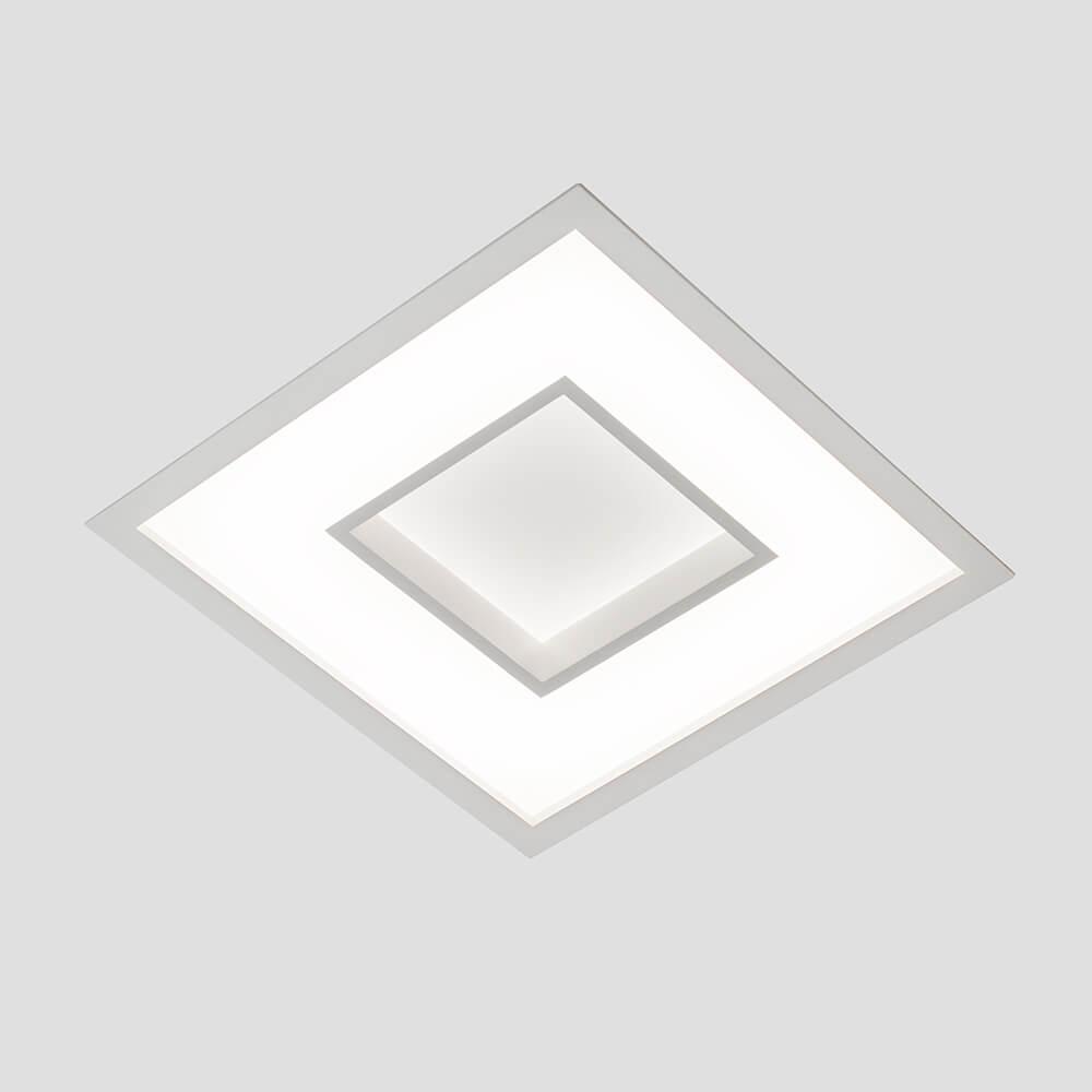 Plafon de Embutir Quadrado New Chess C28,5cm LED 20W 4000K Bivolt 500LED4  Newline