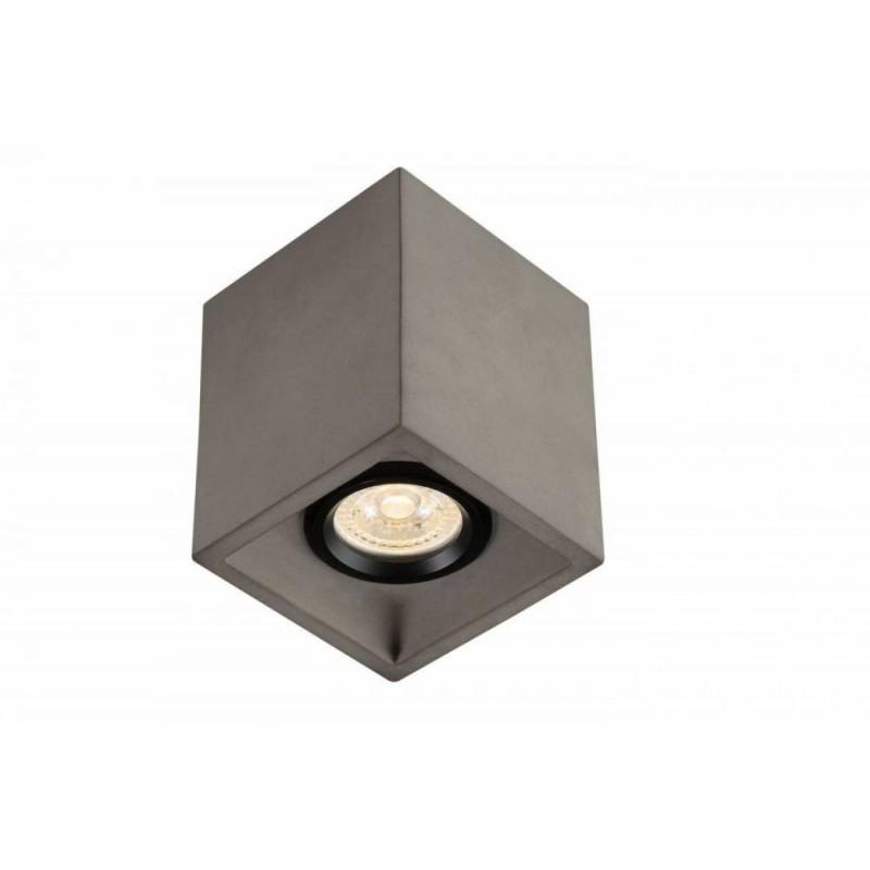 Plafon de Sobrepor Quadrado Concrete em Concreto C10cm 1x GU10 SD8070  Stella Design
