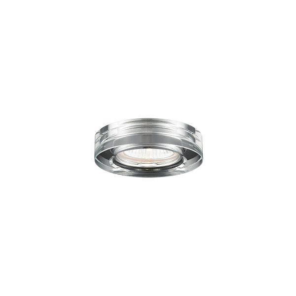 Spot de Emburtir 1x GU10 de Aço Cromado D 100mm SE007/1.10 Mais Luz