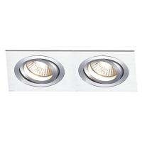 Spot de Embutir 2x AR70 Retangular Direcionável em Alumínio C 240mm NS5702A Bella Iluminação