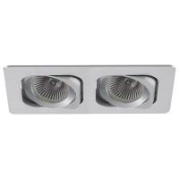 Spot de Embutir 2x Dicroica Retangular Direcionável em Alumínio C 174mm NS6002A  Bella Iluminação