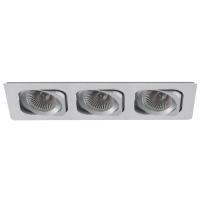 Spot de Embutir 3x AR70 Retangular Direcionável em Alumínio C 350mm NS6703A Bella Iluminação