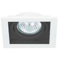Spot de Embutir Conecta 1x AR111 Quadrado Modular em Alumínio Preto C 182mm  NS7111P  Bella Iluminação