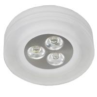 Spot de Embutir LED 3W 3500K Bivolt Redondo em Acrílico Fosco YD227RF Bella Iluminação