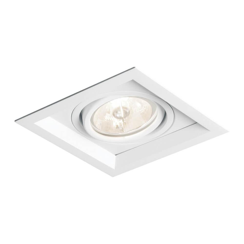 Spot de Embutir Quadrado Recuado Orientável em Alumínio 1x PAR30 IN51361  Newline