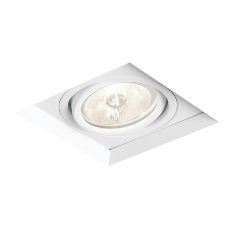 Spot de Embutir Quadrado Recuado Orientável em Alumínio No Frame 1x PAR30 IN60361  Newline
