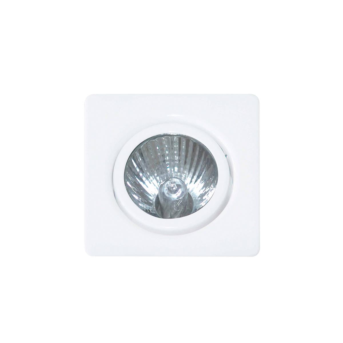 Spot de Embutir Quadrado Rente Orientável em Alumínio 1x Dicroica 11006 Itamonte
