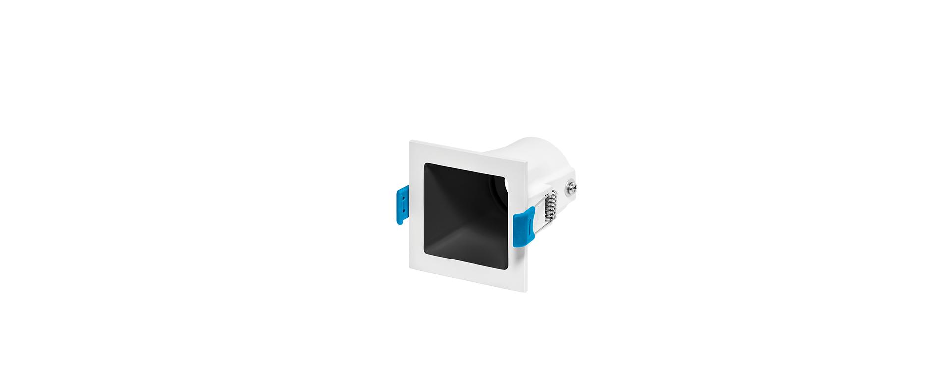 Spot de Embutir Recuado Square Ghost Luz Direcionável 1x Mini Dicróica STH8940  Stella Design
