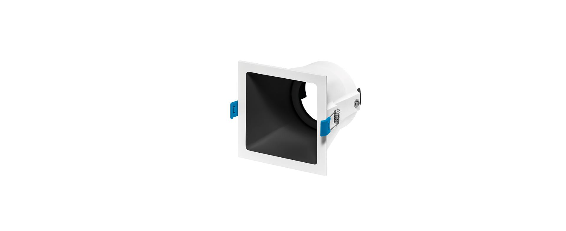 Spot de Embutir Recuado Square Ghost Luz Direcionável 1x PAR20 STH8950  Stella Design