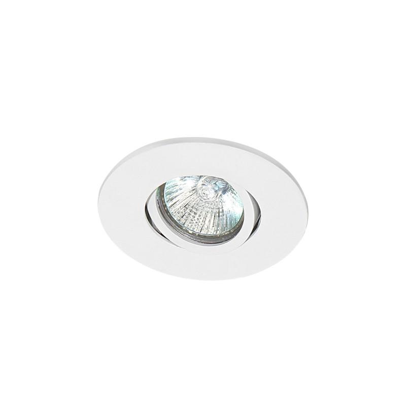 Spot de Embutir Redondo Rente Orientável em Alumínio 1x Mini Dicroica 11005 Itamonte