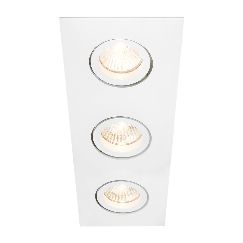 Spot de Embutir Retangular Rente Orientável em Alumínio 3x PAR20 IN55533  Newline