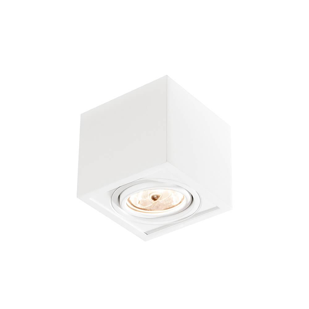 Spot de sobrepor Quadrado Box Rente Orientável em Alumínio 1x AR111 IN41151  Newline