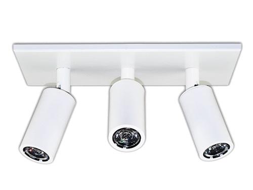 Spot de Sobrepor Triplo Clean Com Canopla LED 10° 9W Bivolt LA-31110 Led Art