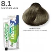 Coloração Permanente e Tonalizante sem Amônia Coloratto - Louro Cinza 8.1 -  60g