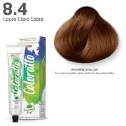 Coloração Permanente e Tonalizante sem Amônia Coloratto - Louro Claro Cobre 8.4 -  60g