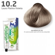 Coloração Permanente e Tonalizante sem Amônia Coloratto - Louro Platina Violeta 10.2 - 60g