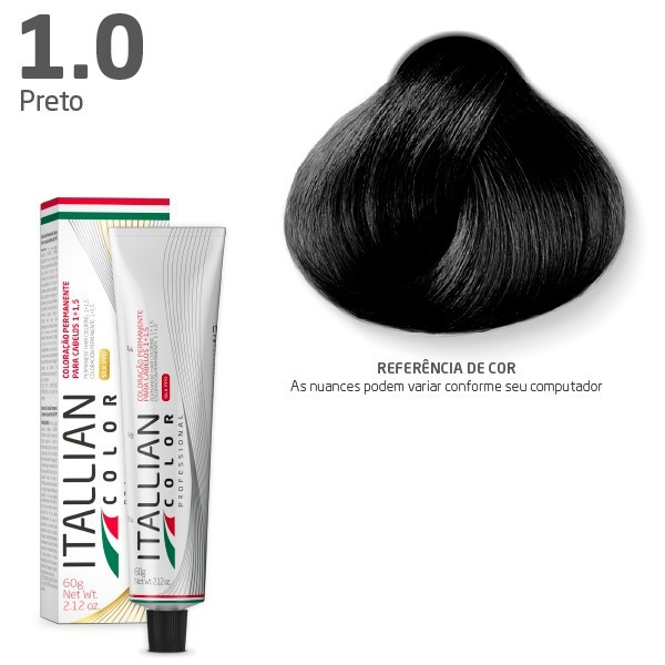 Coloração - 1.0 Preto - Itallian Color  60g