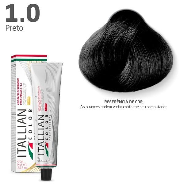 Coloração - 1.0 Preto - Itallian Color  60g