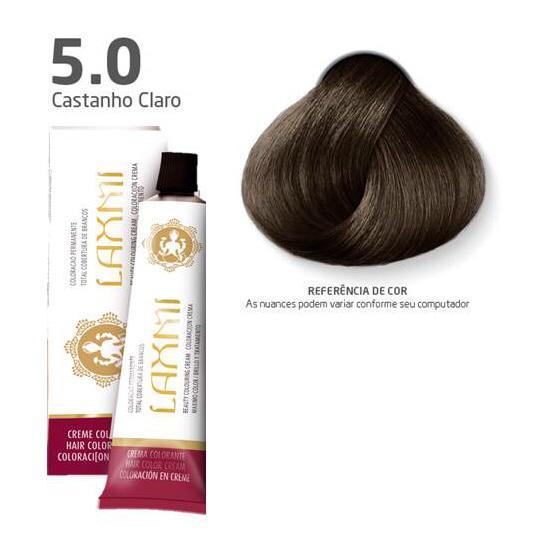 Coloração Laxmi - 5.0 Castanho Claro 60g