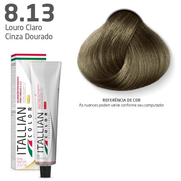Coloração - Louro Bege Cinza 8.13 - Itallian Color 60g