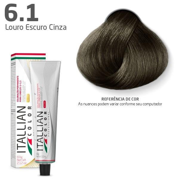 Coloração - Louro Cinza 6.1 - Itallian Color  60G