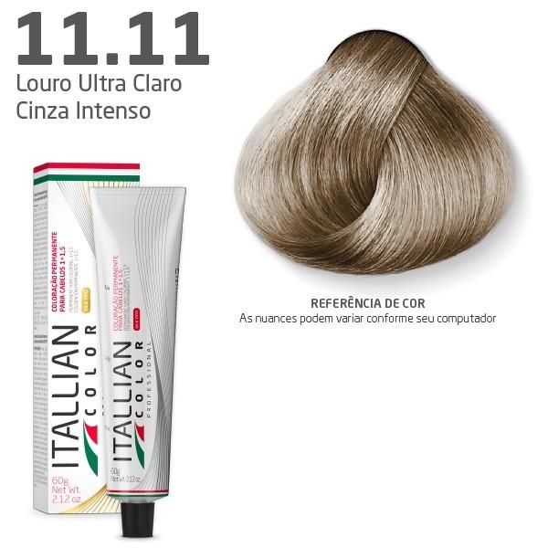 Coloração - Louro Cinza Clarissimo 11.11 - SUPER CLAREADOR - Itallian Color 60g