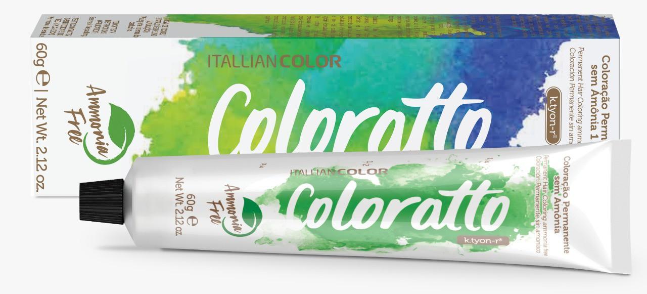 Coloração Permanente e Tonalizante sem Amônia Coloratto - Louro Marrom Chocolate 7.7 - 60g