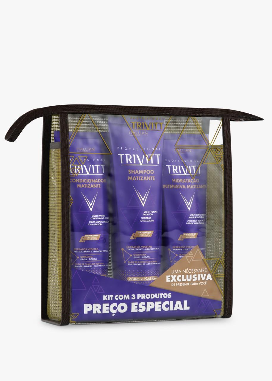 Kit Home Care Trivitt Matizante Com Hidratação Intensiva