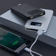 Power Bank Plástico com Indicador Digital 2300020