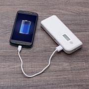 Powerbank Plástico com Indicador Digital e Lanterna 3000921