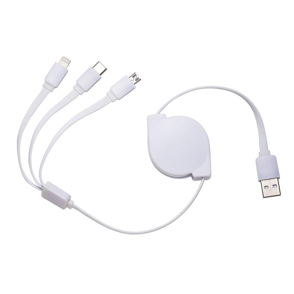 Cabo USB Retrátil 3 em 1 8300300