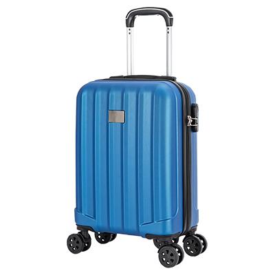 """Mala de Bordo Rígida 360 com USB Londres 20"""" Azul"""