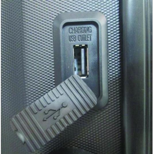 "Mala de Bordo Rígida 360 com USB Londres 20"" Chumbo"