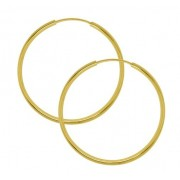 Argola tubolar Ouro 18K 5cm