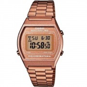RELOGIO CASIO VINTAGE DIGITAL ROSE FEMININO B640WC-5ADF