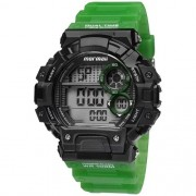Relógio Mormaii Digital Esportivo Preto/Verde Masculino MOYP13613