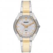 Relógio Orient Prata/Dourado Feminino FTSS1086