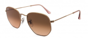 ÓCULOS RAY BAN HEXAGONAL BRONZE RB3548NL 9069A5