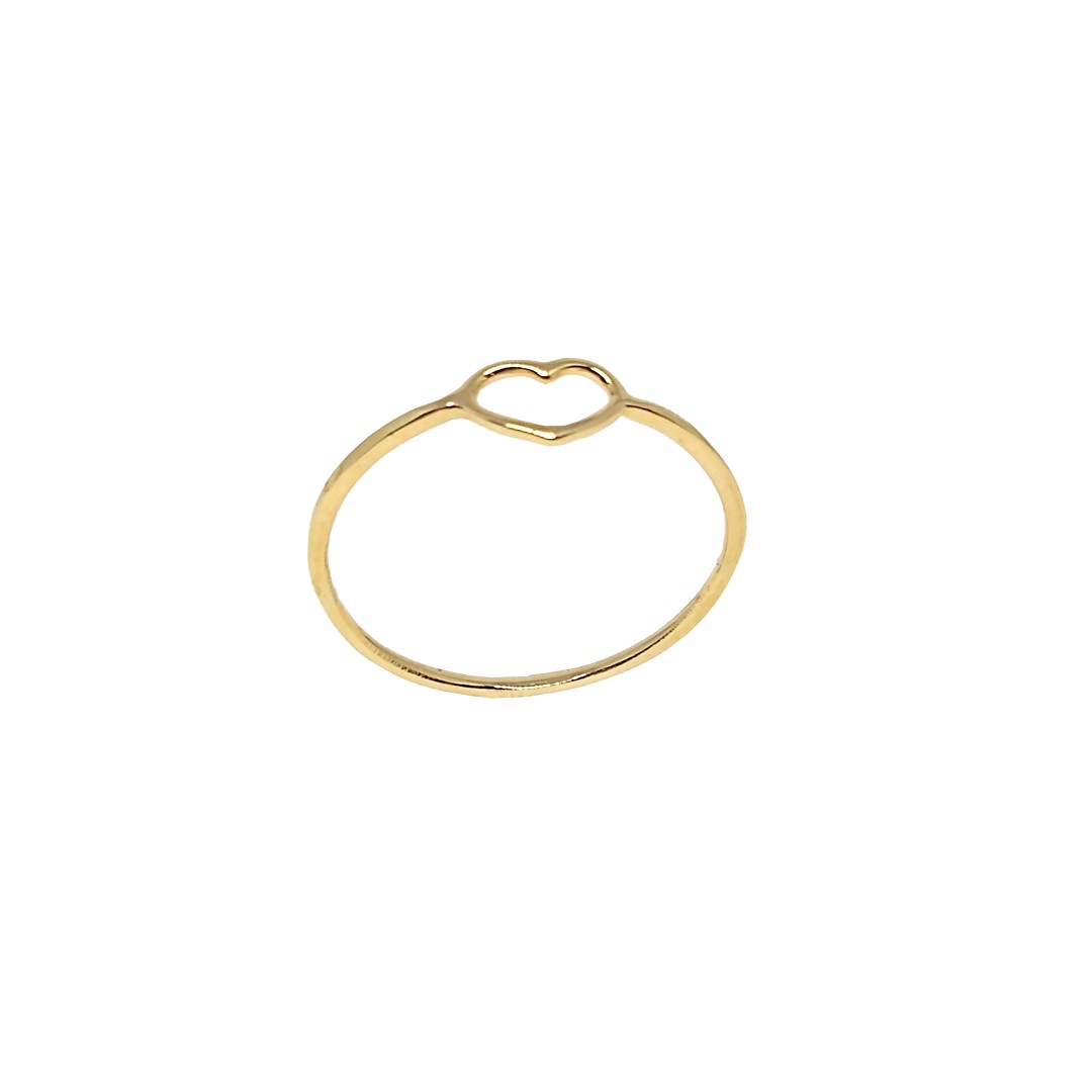 Anel Coração Capricho Ouro18K N14