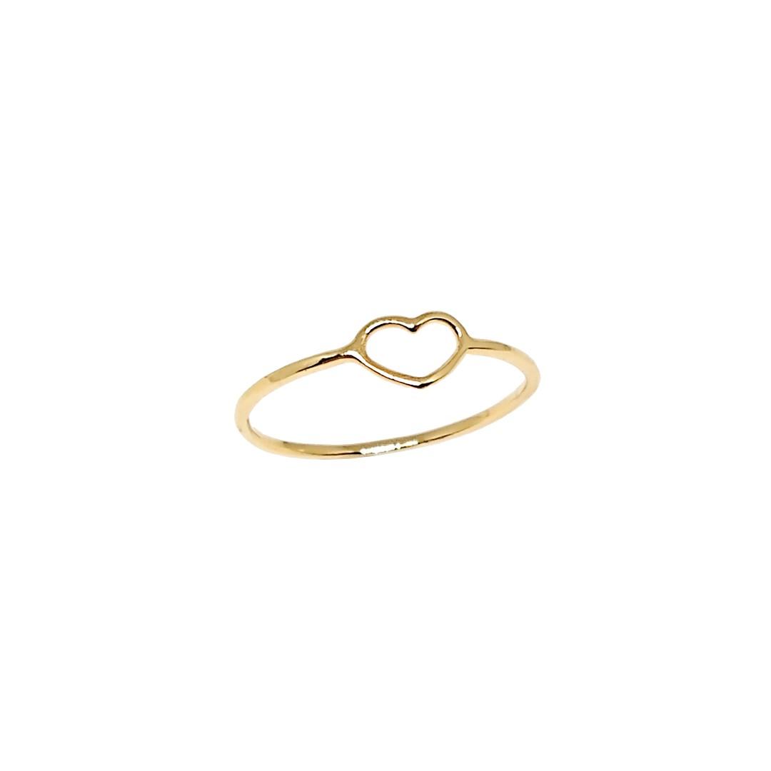 Anel Coração Capricho PP Ouro18k ARO 10