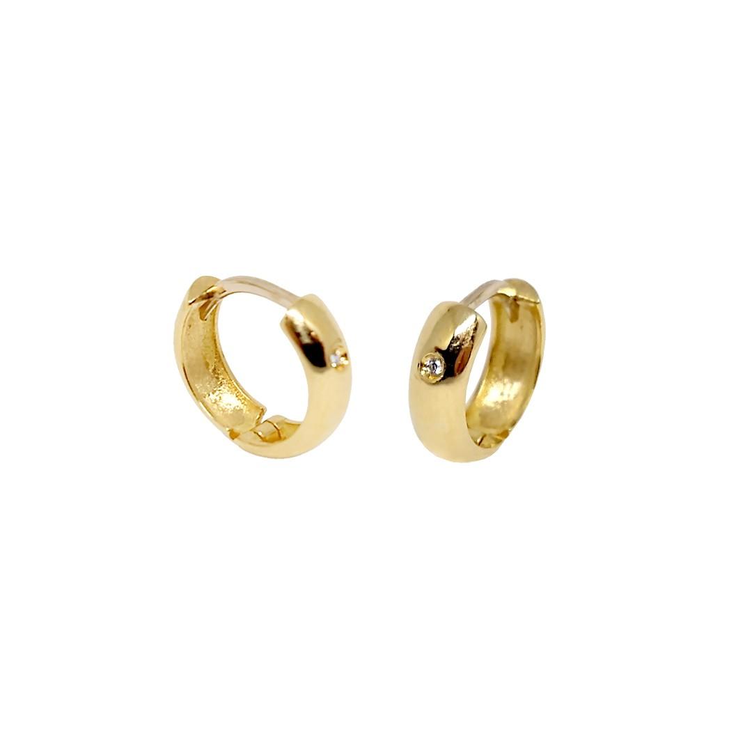 Argola Sofia 4mm Ouro18K