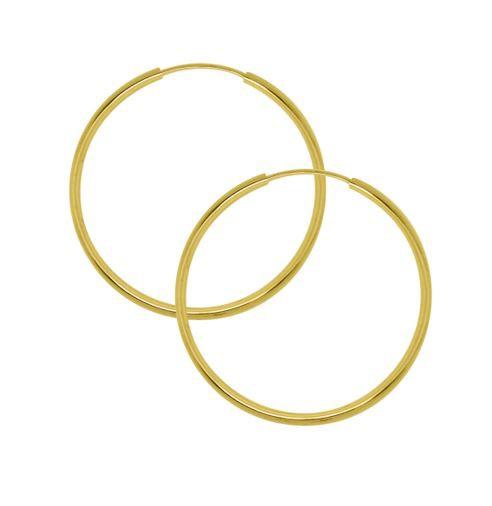 Argola Tubolar Ouro 18K 2,8cm