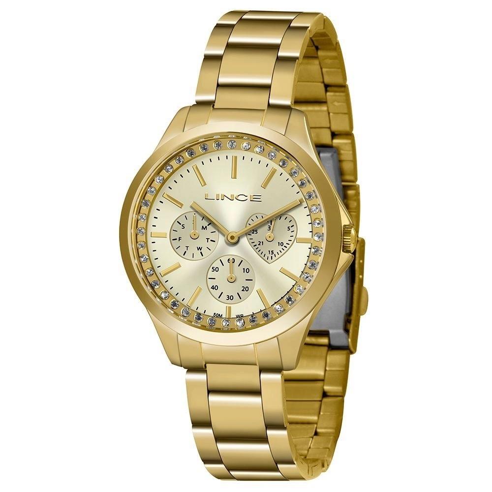 Relógio Lince Analógico Funny Dourado Feminino LMGH117L C1KX