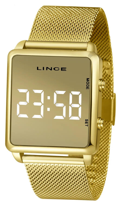 Relógio Lince Analógico Quadrado Dourado Feminino MDG4619L BXKX