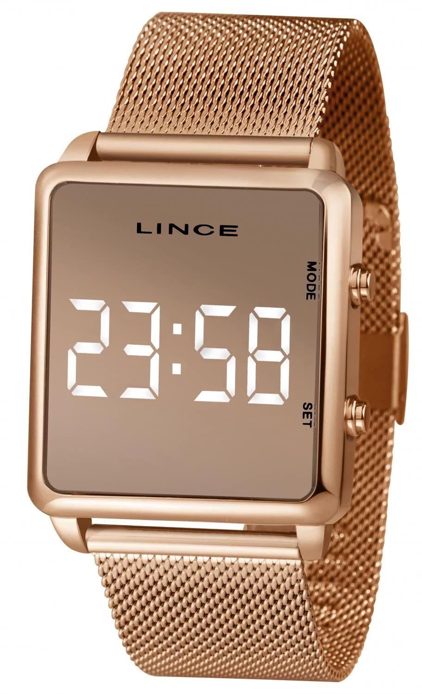 Relógio Lince Digital Rose Quadrado Feminino MDR4619L BXRX
