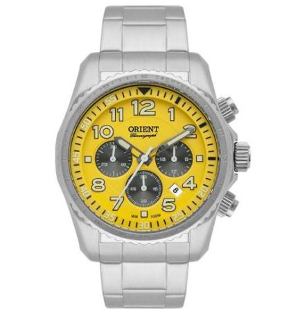 Relógio Orient Analógico Prata Masculino MBSSC148