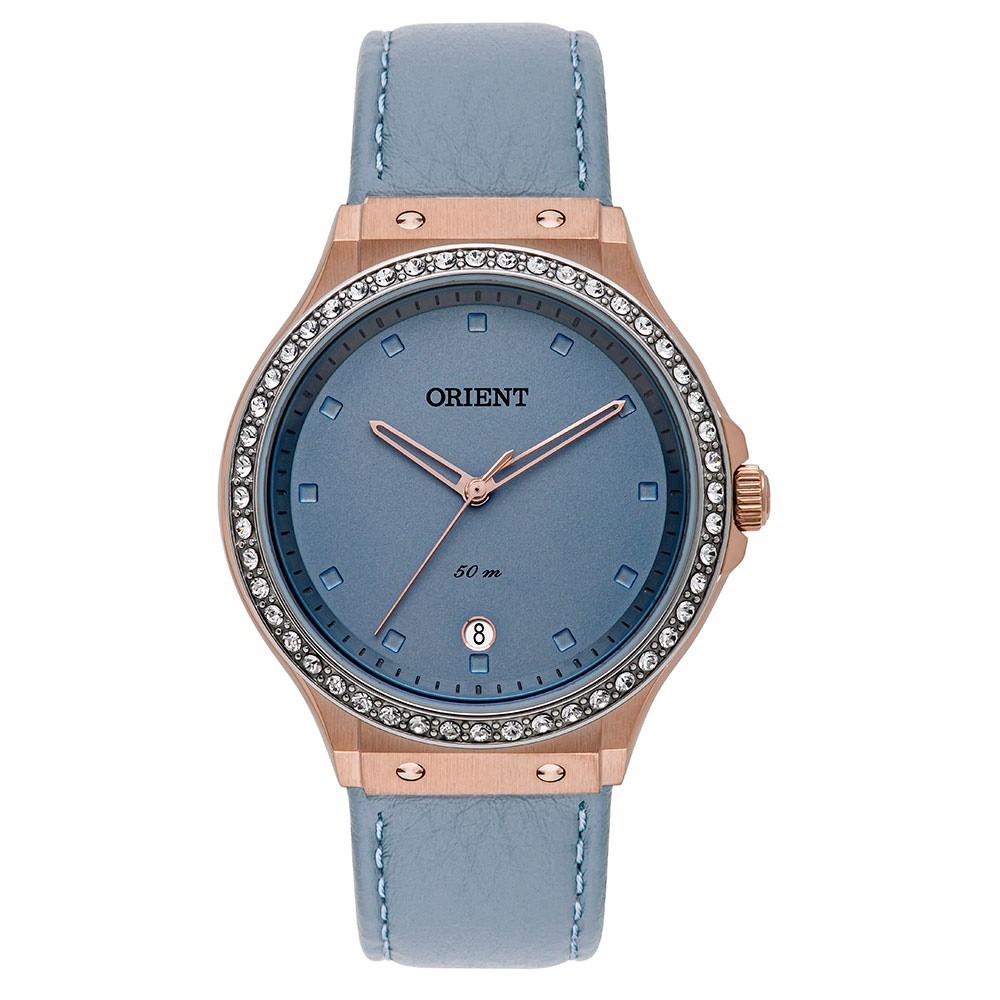 Relógio Orient Couro Azul Feminino FTSC1007 G1GX